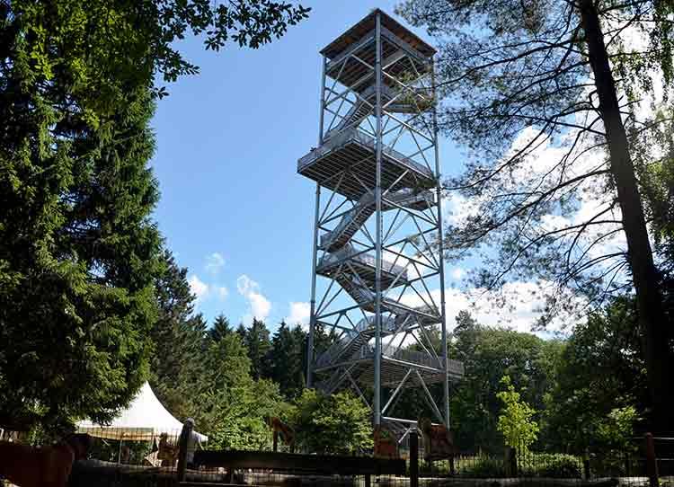 Elbblickturm im Wildpark Schwarze Berge
