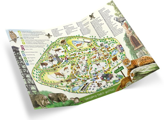 Lageplan und Parkinfos vom Wildpark Schwarze Berge