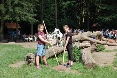 Einen Tag als Tierpfleger im Wildpark Schwarze Berge, Tiere pflegen