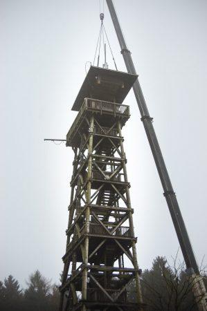 Abriss Elbblickturm Wildpark Schwarze Berge (1 von 17)