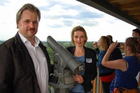 Lars Otten Svenja Stadler Eröffnung Elbblickturm 2017 Wildpark Schwarze Berge