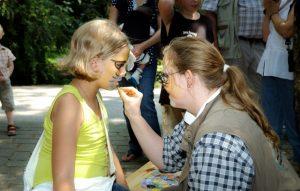 Natur-Erlebnis-Zentrum, Kinderschminken, Sommer, schminken, Wildpark Schwarze Berge