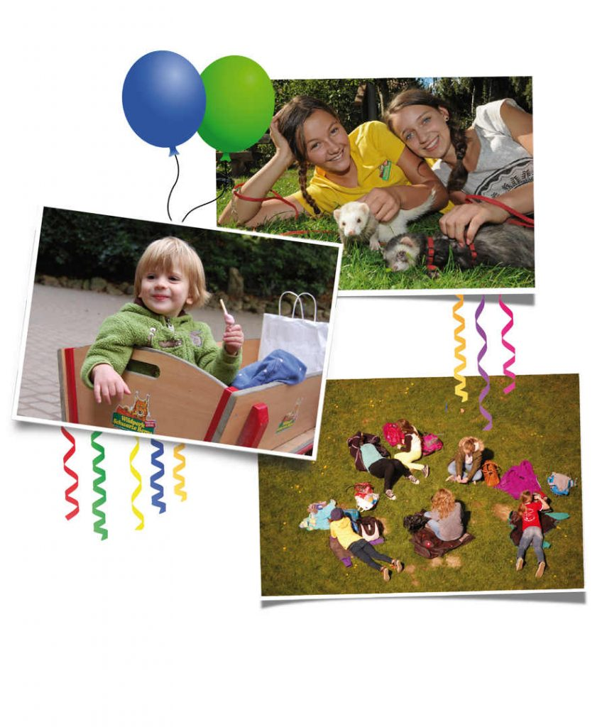 Fröhliche Kinder beim Geburtstag
