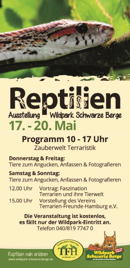 Flyer Reptilienausstellung