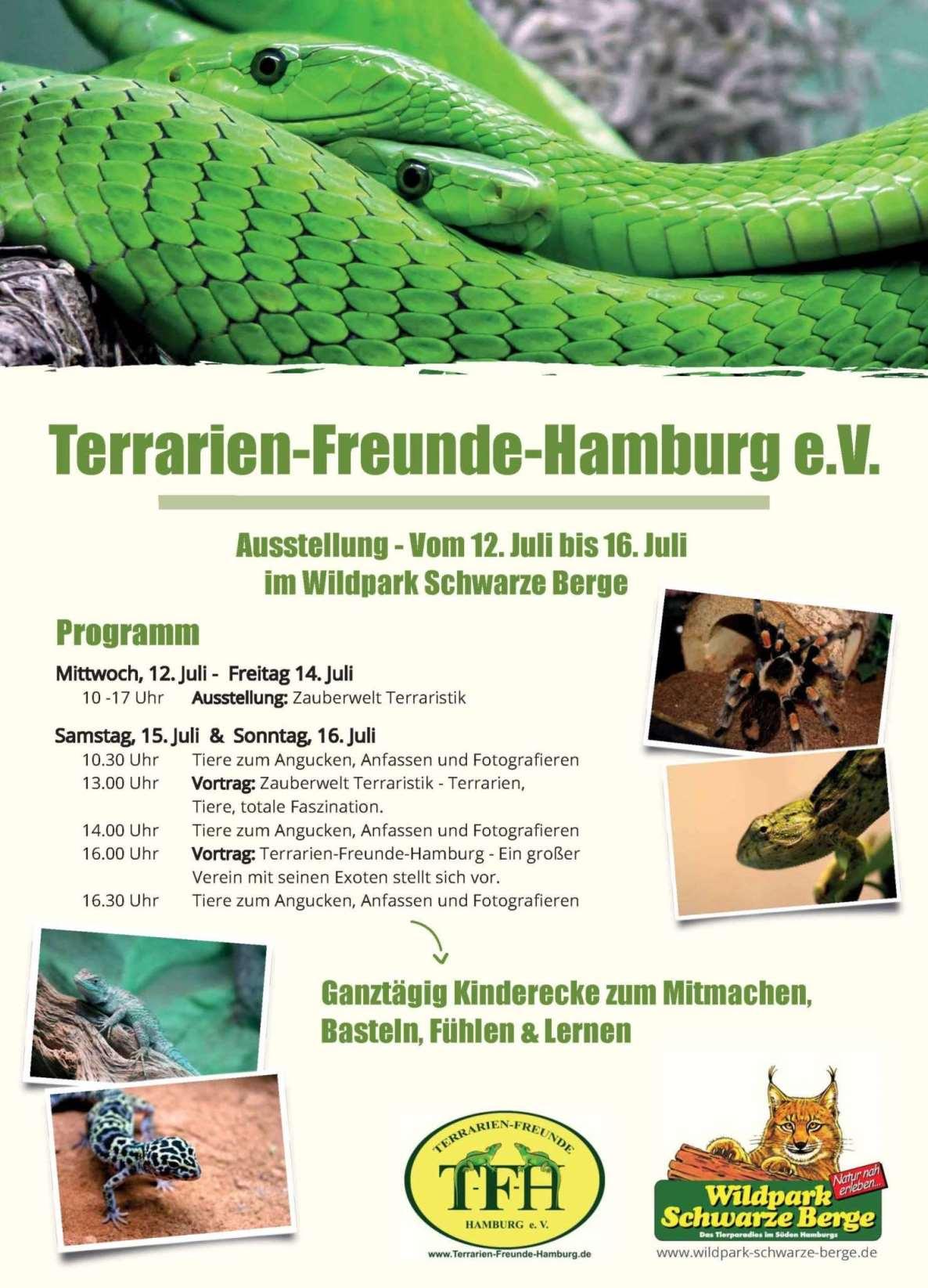 Programm Reptilien-Ausstellung